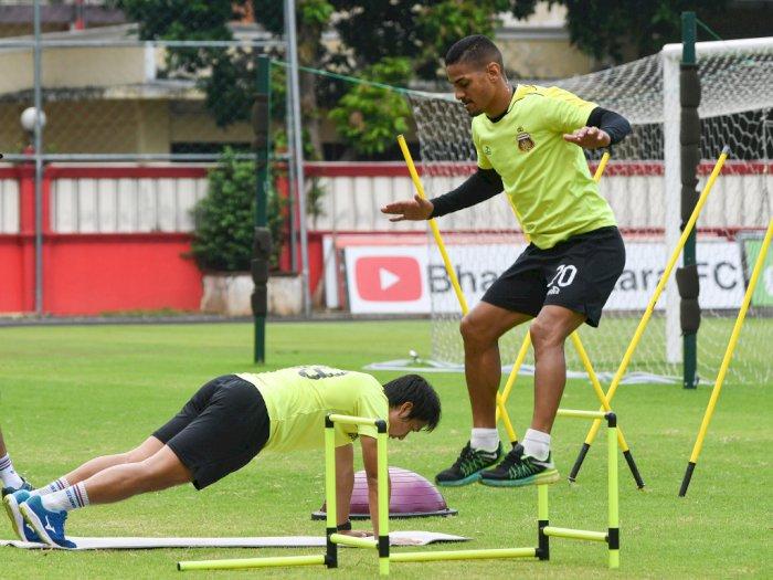 FOTO: Mengintip Latihan Mandiri Pemain Bhayangkara FC