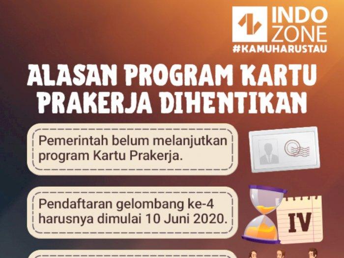 Alasan Program Kartu Prakerja Dihentikan