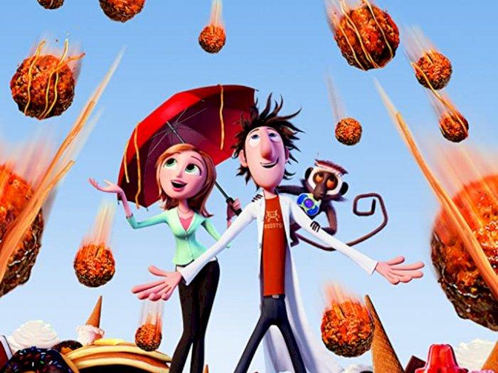 """""""Cloudy With a Chance of Meatballs (2009)"""" - Penemuan Mesin Pembuat Makanan"""