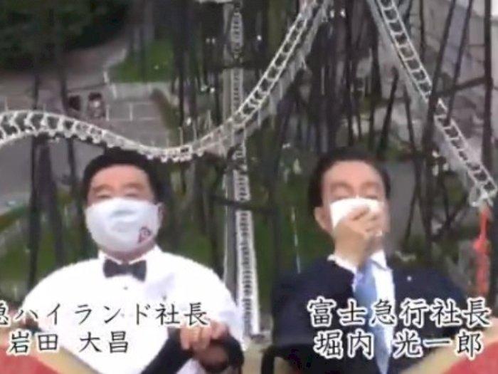 Jawab Keraguan, Bos Taman Hiburan Jepang Buktikan Bisa Naik Roller Coaster Tanpa Histeris