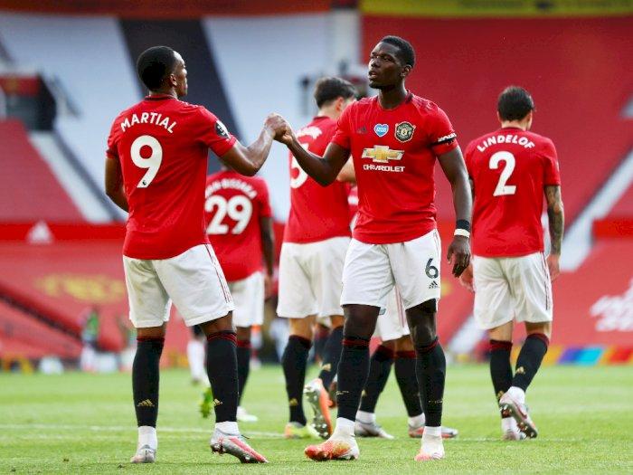 Manchester United VS Sheffield United: Anthony Martial Cetak Hat-trick