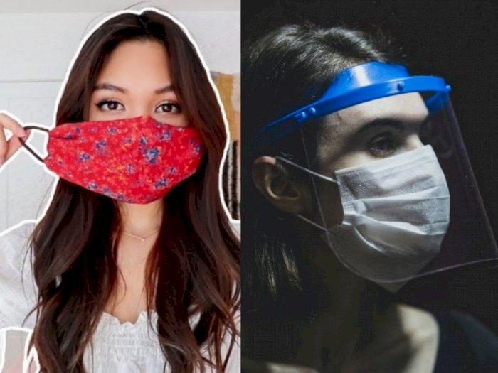 Jadi Barang Wajib, Mana Lebih Efektif Masker Kain atau Face Shield?