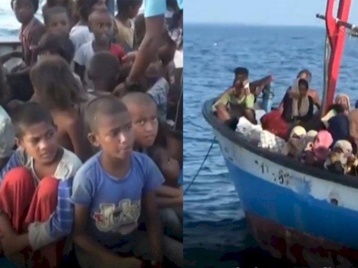 Detik-detik Pengungsi Rohingya Diselamatkan, Kelaparan Berminggu-minggu Terapung di Laut