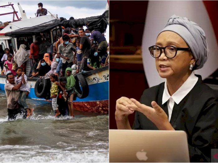 Soal Penyelamatan 99 Pengungsi Rohingya, Menlu Retno: Ini Dilandasi Prinsip Kemanusiaan