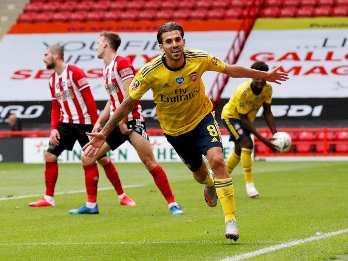 FOTO: Kalahkan Sheffield United, Arsenal Lolos ke Semifinal Piala FA