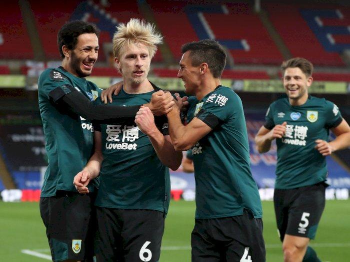 FOTO: Burnley Tundukkan Tuan Rumah Crystal Palace 1-0