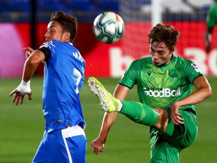 FOTO: Tuan Rumah Getafe Atasi Real Sociedad 2-1
