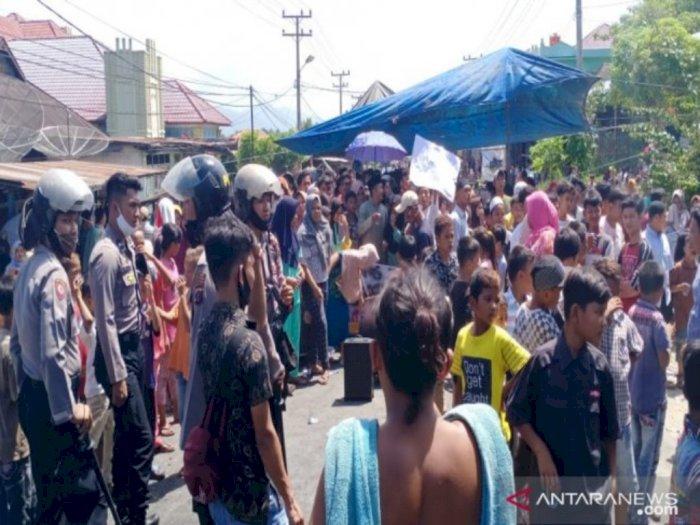 Satu SSK Brimob Polda Sumut Diturunkan untuk Amankan Kericuhan BLT di Madina