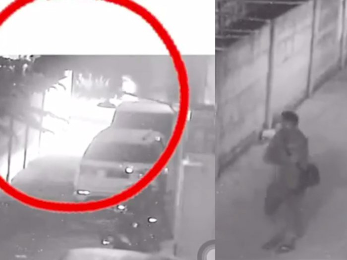 Detik-detik CCTV Pelaku Bakar Mobil Via Vallen Hingga Tulis Ancaman di Tembok: Mati Kalian