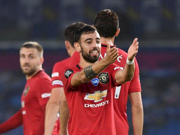 FOTO: Liga Premier Inggris, Manchester United Hajar Brighton 3-0