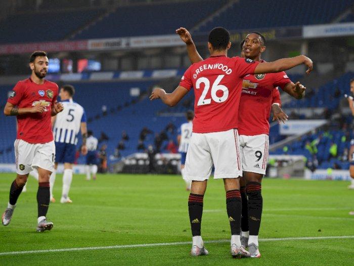 Brighton & Hove Albion VS Manchester United: The Red  Devils Unggul 2-0 di Babak Pertama