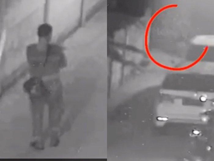 Video Rekaman CCTV saat Mobil Alphard Via Vallen Dibakar, Pelaku Lari ke Sawah