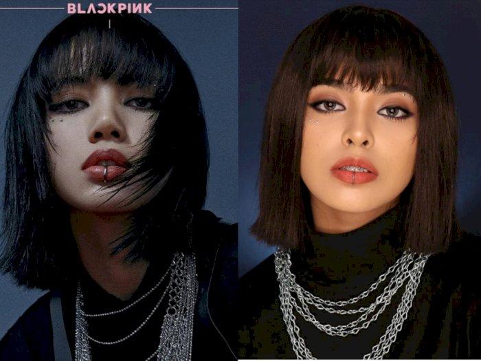 Mirip Banget, Jharna Bhagwani Recreate Makeup ala Lisa Blackpink