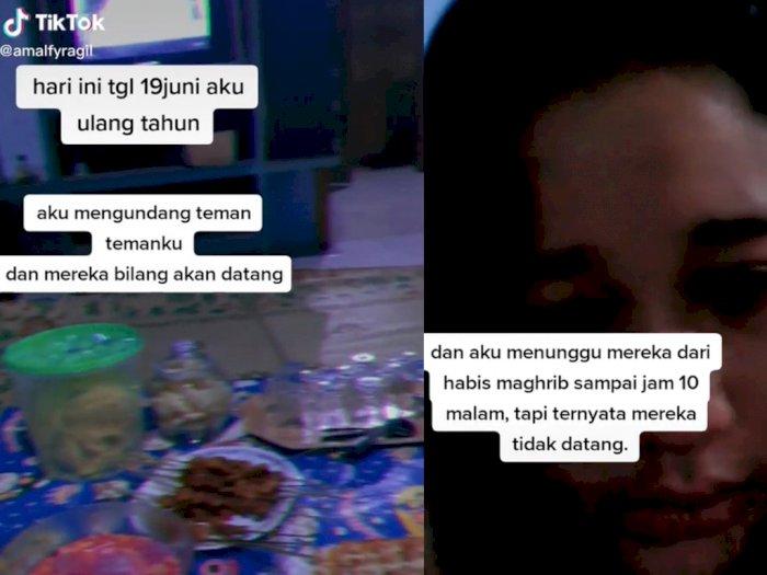 Sedih! Acara Ultah Wanita Ini Cuma Dihadiri 2 Teman, Padahal Ibunya Sudah Masak Banyak