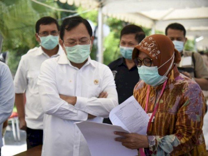 Menkes Lihat Cara Kerja Wali Kota Surabaya di Dapur Umum, Risma: Saya Kaget Bapak Datang