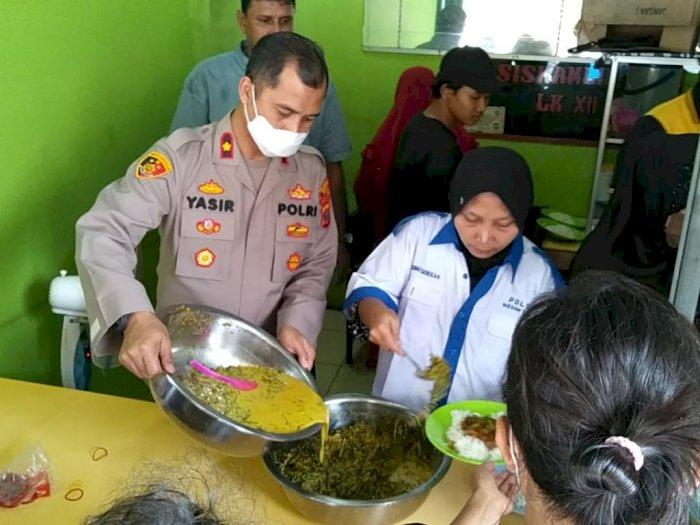 Polsek Sunggal Sediakan Makan Gratis Untuk Masyarakat Umum