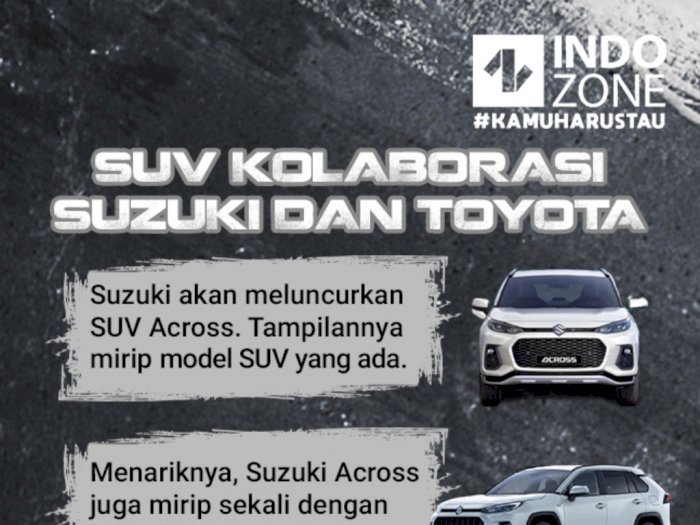 SUV Kolaborasi Suzuki dan Toyota