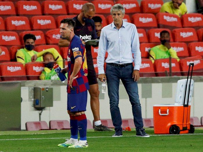 Setien Anggap Isu Kepergian Messi Hanya Omong Kosong