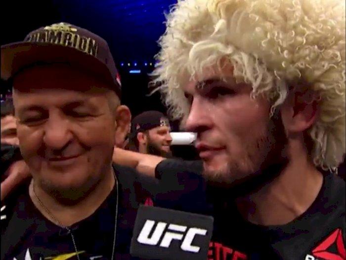 Sang Ayah Wafat, Juara UFC Khabib Nurmagomedov: Semua yang Kuraih Karena Jasa Ayahku