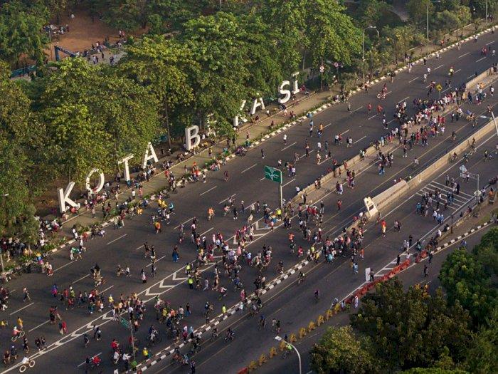 FOTO: Car Free Day di Bekasi Kembali Dilaksanakan