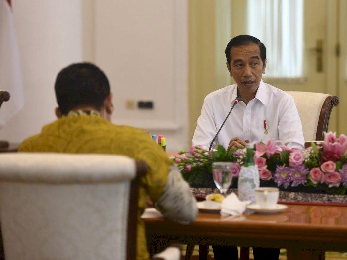 FOTO: Presiden Jokowi dan Pimpinan MPR Bahas RUU HIP di Istana Bogor