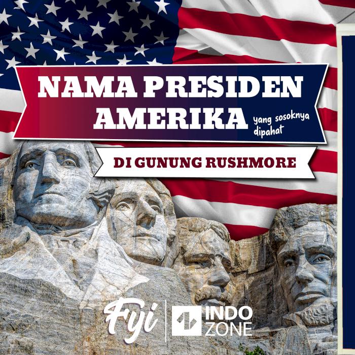 Nama Presiden Amerika Yang Sosoknya Dipahat Di Gunung Rushmore