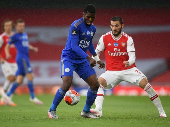 FOTO: Main di Kandang Sendiri, Arsenal Ditahan 1-1 oleh Leicester City