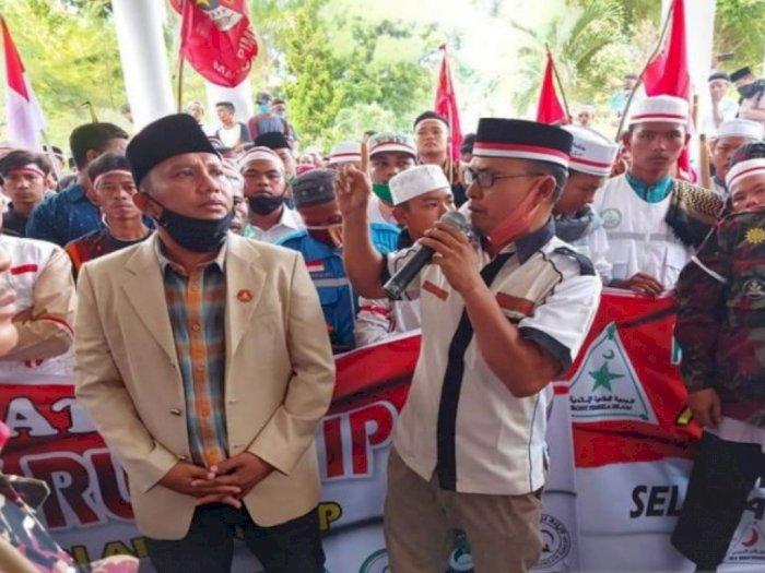 Aliansi Masyarakat Madina Unjuk Rasa di DPRD Untuk Tolak RUU HIP
