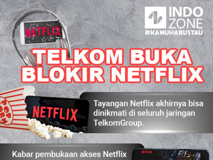 Telkom Buka Blokir Netflix