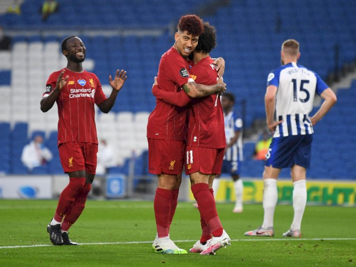 Babak Pertama, Liverpool Unggul 2-1 atas Brighton & Hove Albion