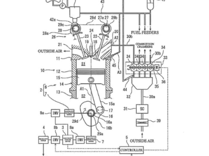 Inilah Desain Paten Mesin 2-Tak Hybrid Terbaru Buatan Kawasaki!
