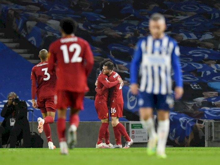 Liverpool Petik Kemenangan di Markas Brighton & Hove Albion
