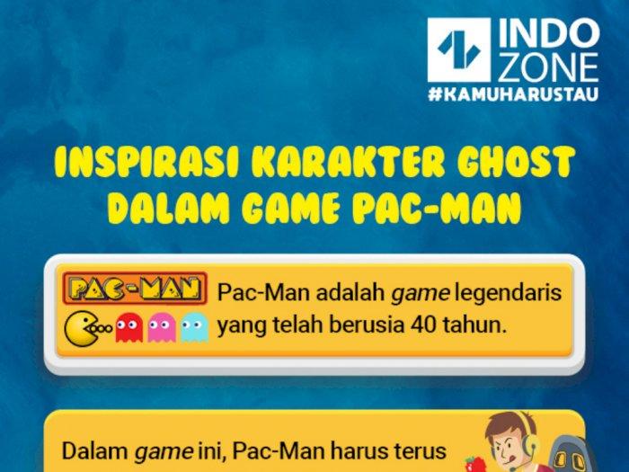 Inspirasi Karakter Ghost dalam Game Pac-Man