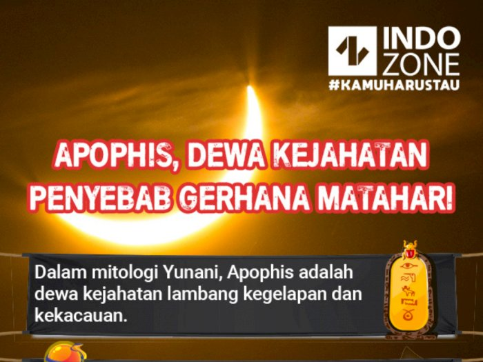Apophis, Dewa Kejahatan Penyebab Gerhana Matahari
