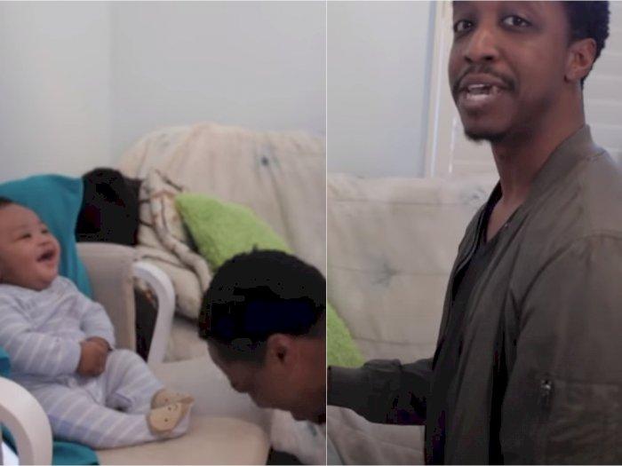 Pria Ini Tantang Bayi 5 Bulan Adu Ngerap, Pemenang Akhirnya Tak Disangka