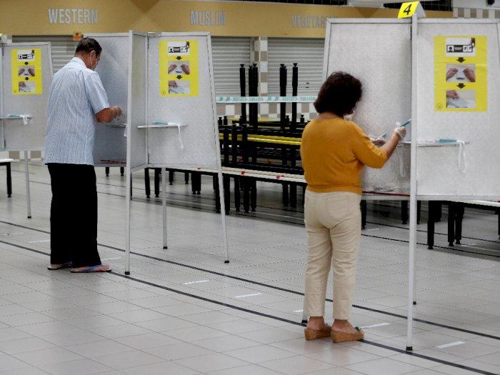 FOTO: Singapura Gelar Pemilihan Umum di Tengah Pandemi Covid-19