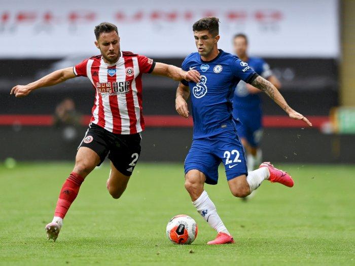 Sheffield United VS Chelsea: The Blues Tertinggal 2-0 di Babak Pertama