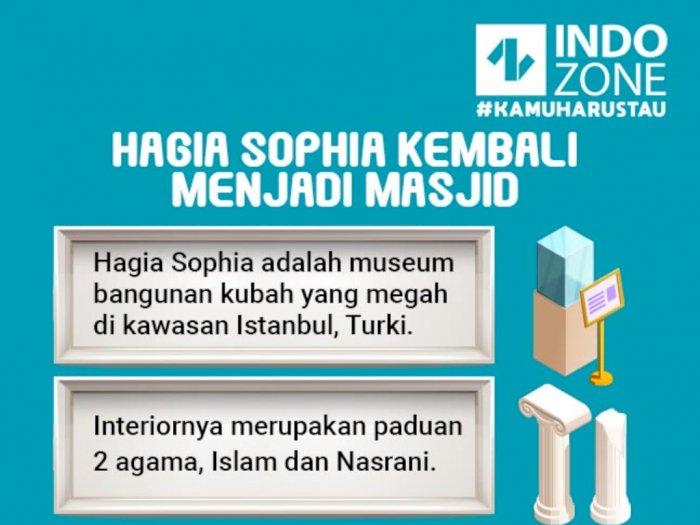 Hagia Sophia Kembali Menjadi Masjid