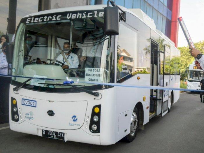 Transjakarta Perpanjang Uji Coba Bus Listrik Jadi 12 Jam Mulai Hari Ini