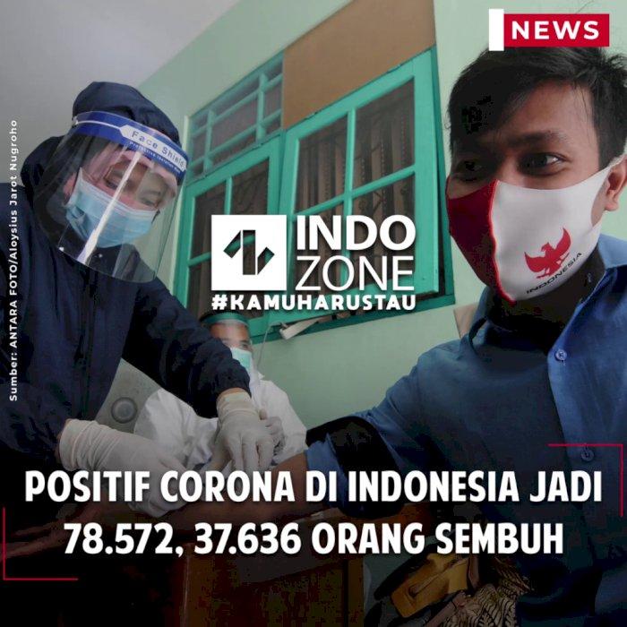Positif Corona di Indonesia Jadi 78.572, 37.636 Orang Sembuh