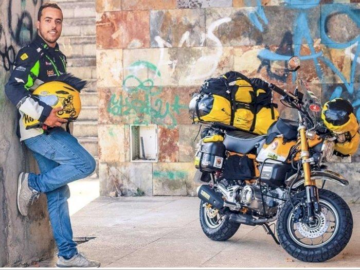 Pembalap Portugal Bakal Keliling 50 Negara dengan Motor Mungil Honda Monkey