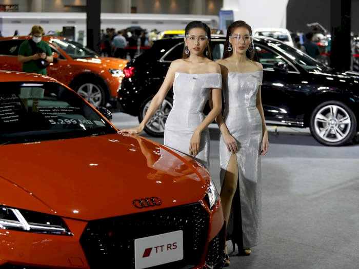 FOTO: Pesona Model Cantik di Bangkok International Motor Show 2020