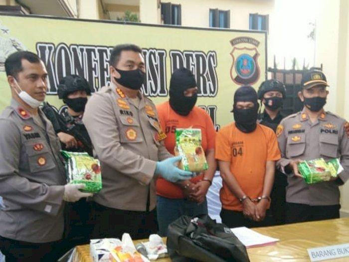 Pengedar Selundupkan Narkoba Jenis Sabu di Medan dalam Bungkusan TehChina