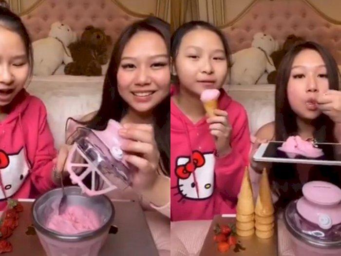 Netizen Ini Gunakan iPad Sebagai Wadah Makan Es Krim, Netizen: Jorok, Bekas Garuk Ketek