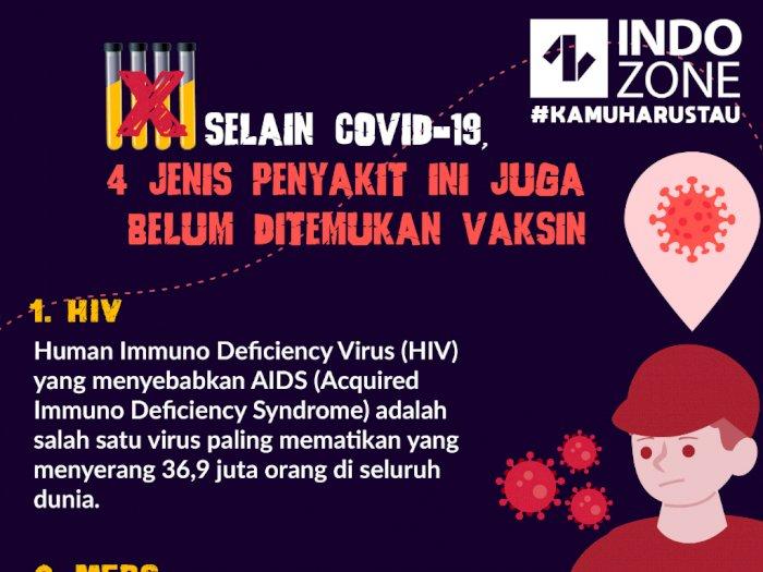 4 Jenis Penyakit Ini Juga Belum Ditemukan Vaksin