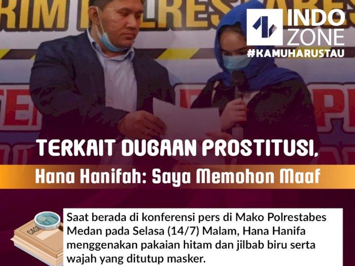 Terkait Dugaan Prostitusi, Hana Hanifah: Saya Memohon Maaf