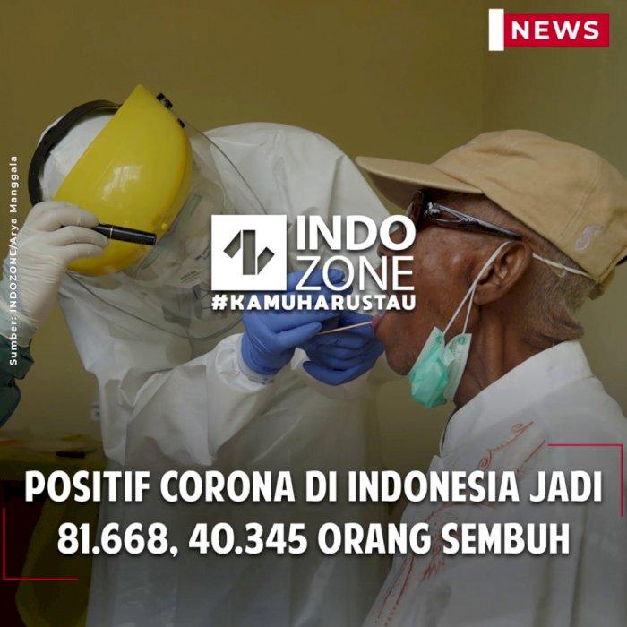 Positif Corona di Indonesia Jadi 81.668, 40.345 Orang Sembuh