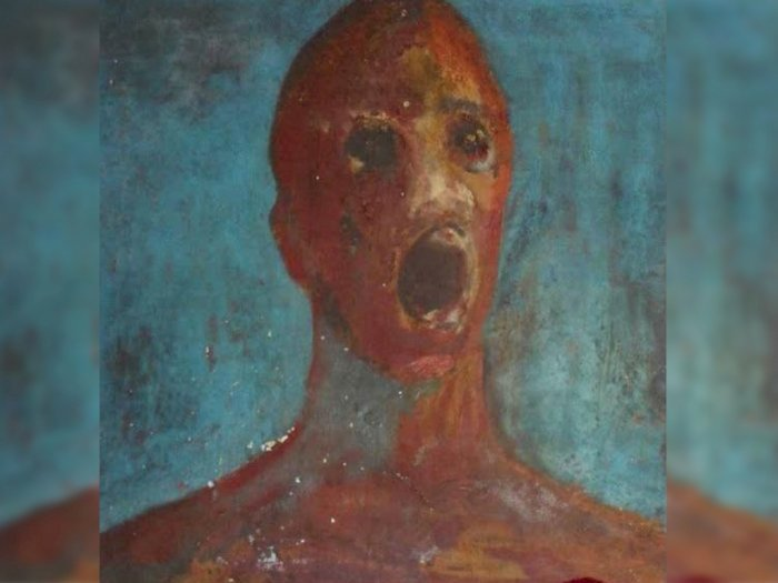 Lukisan dari Darah Sang Pelukis 'The Anguished Man'