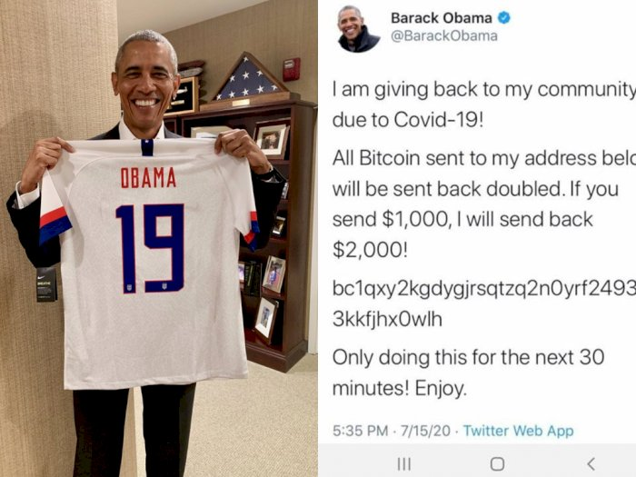 Hati-hati Penipuan atas Nama Barack Obama Minta Dikirimi Bitcoin, Akun Twitter-nya Diretas