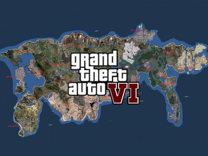 Konsep Map dari GTA VI Gabungkan Berbagai Kota dari Seluruh Seri Game GTA!